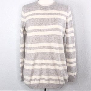 Pure Collection Boyfriend Cashmere Stripe Sweater